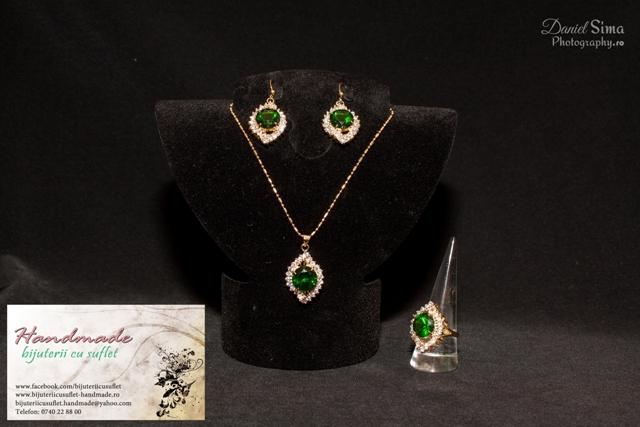 vânzare cu amănuntul fotografii oficiale arata bine vanzare pantofi Set bijuterii cu topaz verde smarald, Bijuterii cu Suflet