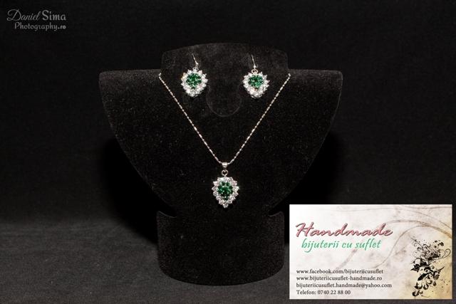 ai grijă la vânzare cu reduceri calitate superioară Set bijuterii topaz verde smarald, Bijuterii cu Suflet